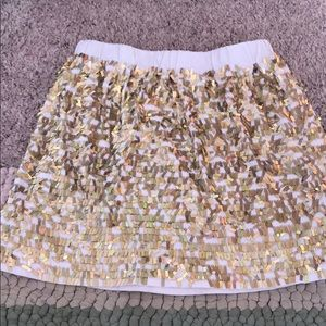 Crew cuts skirt sequins gold glitzy 4-5 lined